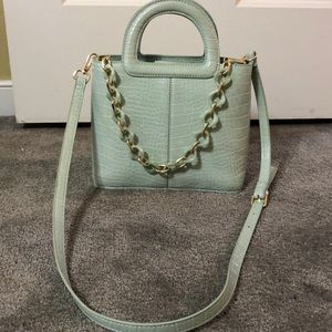 Topshop Perfect accessory mint faux croc purse